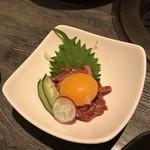京・黒桜 - とろける黒毛和牛ユッケ