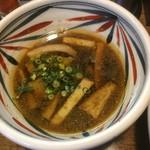 麺鮮醤油房 周月 - つけ汁のアップ〜♪( ´▽`)