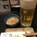 日比谷 鳥こまち - 料理写真:生ビール・お通し