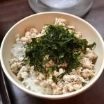 83194638 - 鶏すきやき風つけ麺の〆ご飯(別売)