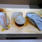 北辰鮨 - 炙り3貫