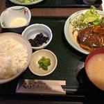 くらのあかり - 本日の日替わり定食 ハンバーグ デミグラスソース
