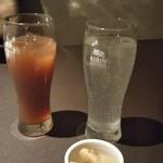 天王寺個室居酒屋 郷土宴座 - カシスオレンジとモヒート