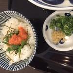 83210378 - 明太海苔ご飯と薬味