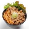 肉丼 喜輪 - 料理写真:名物!喜輪丼(肉3種盛り丼)