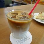 ドッピオ コーヒー ファクトリー - アイスラテ380円