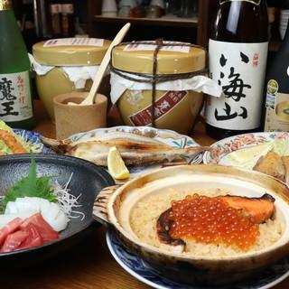 日本各地の日本酒や焼酎をメインに、ドリンクを豊富に品揃え!