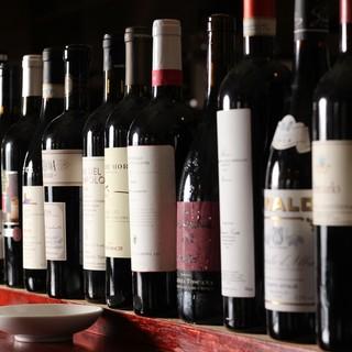 イタリア、フランスなど500種類2000本のワインストック