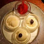 バー・バーンズ - バニラアイスクリームと苺