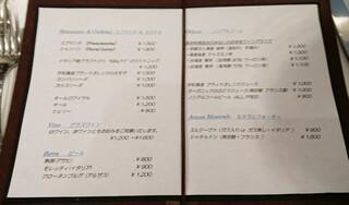 リストランテ・ホンダ - メニュー