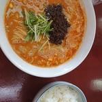 楽 - 担々麺、ライス