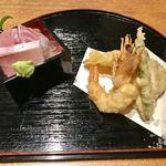魚匠 銀平本店 - 新鮮過ぎるお造りにクオリティーの高い天ぷらです♪