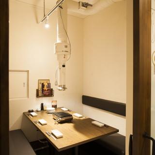 プライベートな特別個室空間