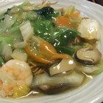 中国広東料理 えん - ランチの海鮮あんかけ焼きそば