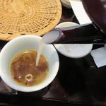 小松庵 総本家 - 蕎麦湯にはかなりの粘度が