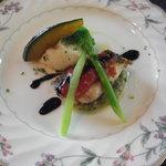 セルフィーユ - 鯛のポワレ 茄子とバジルソース