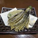 さぬき・むさし野うどん水織 - 野菜天3点盛(260円)_2018-03-28