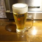 魚椿 - 生ビール(490円)