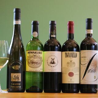 ◆赤・白・泡◇肉料理に合うワインを豊富に取り揃えております。