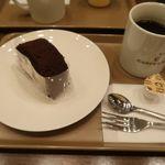 炭火焙煎珈琲 凛 - 凛ブレンド珈琲とココアロール