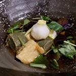 和彩dining 花 - 生麩と茄子の煮浸し、だったかな? 好みの味♪