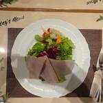 ナチュラルダイエットレストラン NODO - ナチュラルコース プロシュートコットのサラダ