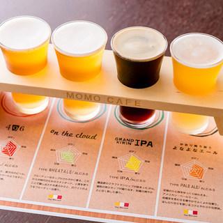 タップ・マルシェで入れる4種類のクラフトビールが楽しめる♪