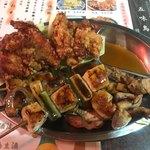五味鳥 - 料理写真:盛合わせ @600- かわ・せんざんき・串3本 のセット