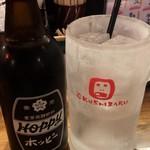 くし家串猿 - 串猿セット ¥700 のホッピーセット(黒)