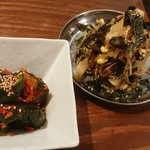 Yakinikusakabasumibiya - 胡瓜キムチとメリメロナムル