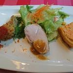 ペンナロッソ - 前菜の盛り合わせ
