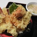 うおたけ鮮魚店やけんど 海鮮どんや - 天丼(950円)
