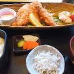 わらべ菜魚洞 - アジフライ+定食