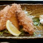 わらべ菜魚洞 - アジフライアップ