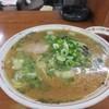 Kiryuu - 料理写真:先ずは最初にラーメンの出来上がり。  小さい頃から博多の屋台で食べてた様な懐かしい味のする昔ながらの醤油トンコツスープのラーメン。