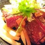 ぎっちょん - 希少部位ザブトンのステーキ