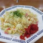 喜龍 - セットの小焼飯、やや塩味が強いけどラーメンと一緒に食べるにはピッタリの一品でした。