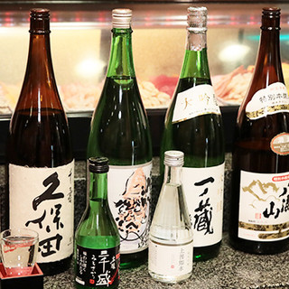 お寿司と相性◎定番の日本酒からプレミアム焼酎まで勢ぞろい!