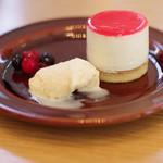 カフェ オムニバス - 木苺レアチーズ