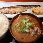 めしの助 - 日替わり焼魚定食(塩いわし)