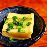 さば銀 - お通し、玉子豆腐