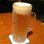 8329622 - 生ビールはサッポロ黒ラベル600円!ひえひえ〜