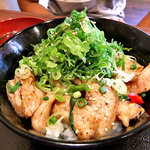 どんぶりブッチャー - ぶたとろ塩丼(大盛り)(2011年6月)