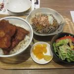 ふくい軒 - カツ丼+ミニおろし蕎麦セット 980円
