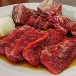 焼肉 白雲台 - 焼肉定食Bはロースと骨付きカルビ