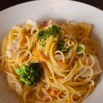 ブロッコリー - 料理写真:うにと帆立貝柱のクリームスパゲティー