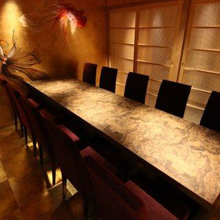 【個室】6名様まで、8名様までの上質な空間の完全個室