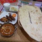 パキスタン・アラビアン・インド料理 デラ - Cセット マトンとピーマンとたまねぎ