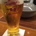 水たき玄海 - 生ビール(キリン一番搾り)