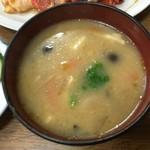 綾城 - 定食の味噌汁